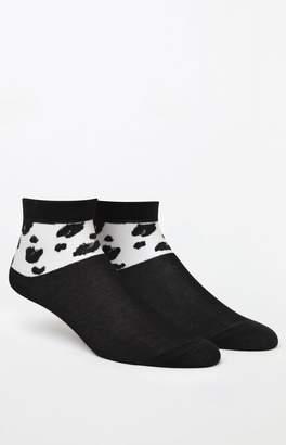 Richer Poorer Printed Sheer Ankle Socks
