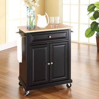 Charlton Home Donato Kitchen Cart with Wood Top Base