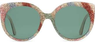 Gucci Cat eye glitter acetate sunglasses