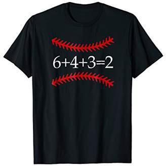 6 4 3 2 Baseball Math Shirt | Cute Softball Game Tee Gift