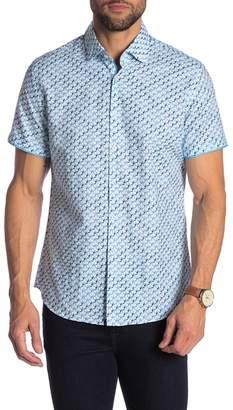Stone Rose Toucan Print Short Sleeve Shirt