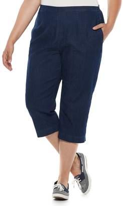 Alfred Dunner Plus Size Studio Pull-On Denim Capri Pants