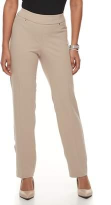 Briggs Petite Scuba Crepe Split-Waist Dress Pants