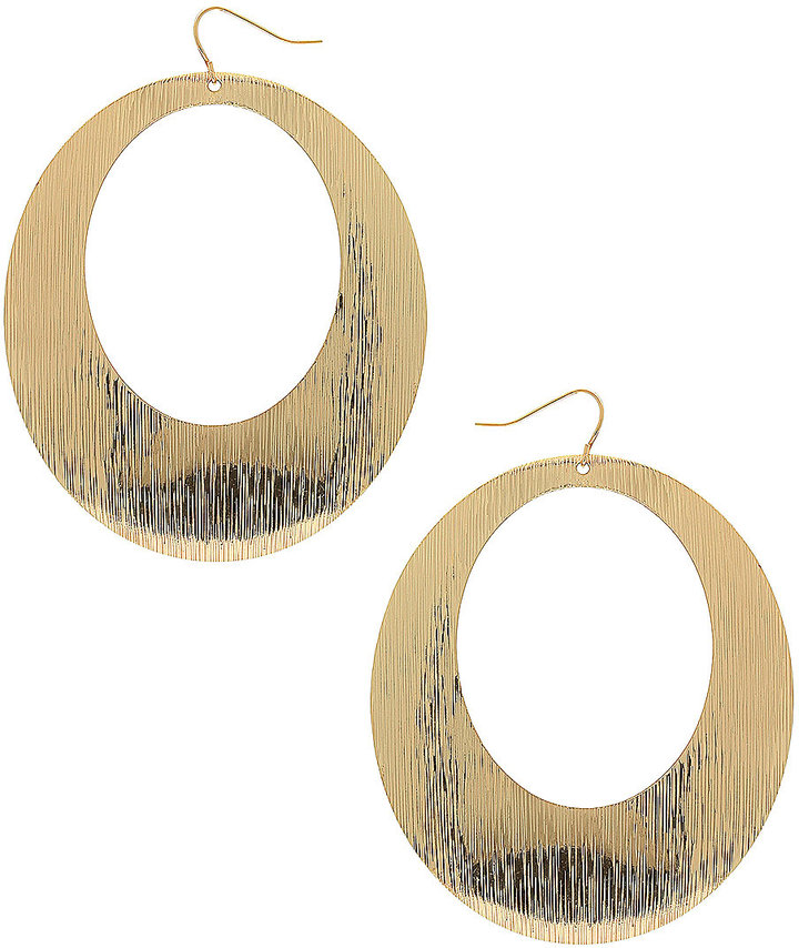 Cut Out Brushed Oval Hoops