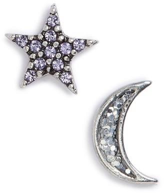 Women's Marc Jacobs Moon & Star Mismatch Stud Earrings $55 thestylecure.com