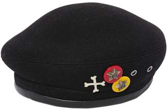 DSQUARED2 Wool Felt Hat W/ Pins