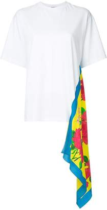 MSGM T-shirt with side scarf detail