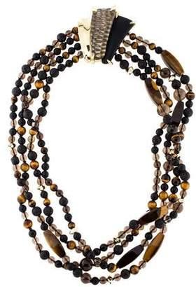 Alexis Bittar Multistone & Lucite Bead Necklace