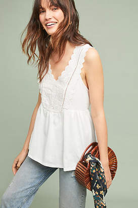 James Coviello Maltese Eyelet Tank