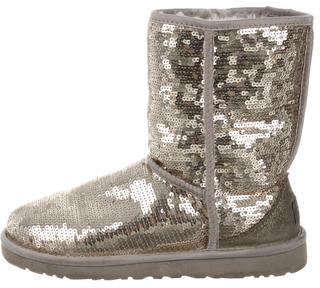 UGG Australia Sequin Ankle Boots $95 thestylecure.com