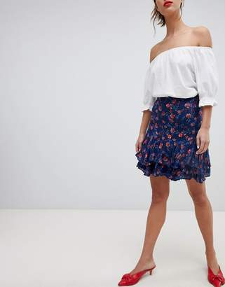 Esprit All Over Floral Print Mini Skirt