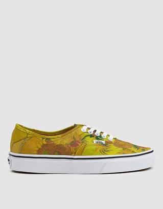 Vans Van Gogh Authentic Sneaker in Sunflower