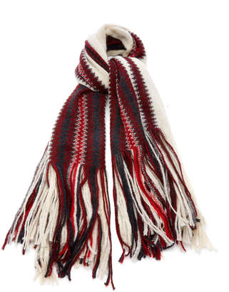 Isabel Marant Kimn Striped Mohair-Blend Scarf