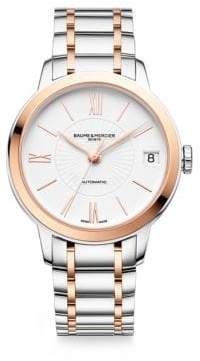 Baume & Mercier Baume& Mercier Women's Classima 10269 Two-Tone Bracelet Watch - Silver Gold