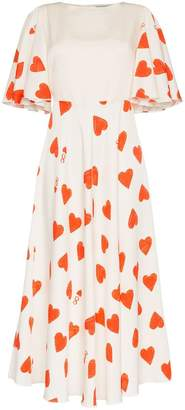 Vika Gazinskaya Eight of Hearts silk and wool dress