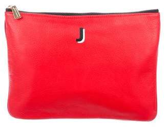 Rebecca Minkoff Grained Leather Zip Pouch
