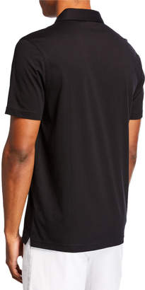Michael Kors Men's Camo Ribbon Trim Polo Shirt