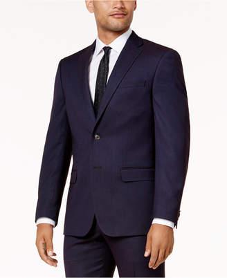 Sean John Men's Slim-Fit Purple Birdseye Suit Jacket