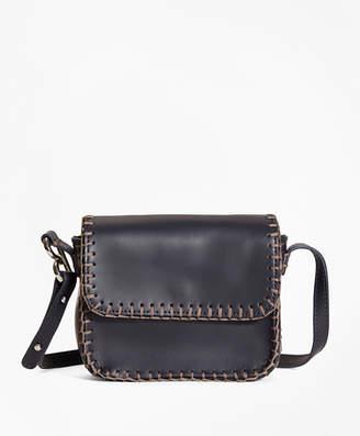 Brooks Brothers Leather Dotty Shoulder Bag