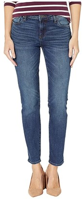 KUT from the Kloth Catherine Slouchy Boyfriend Roll Up 5 in Obsess/Dark Stone Base Wash