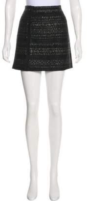 Porter Grey Wool Mini Skirt