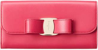 Salvatore Ferragamo Vara Leather Continental Wallet