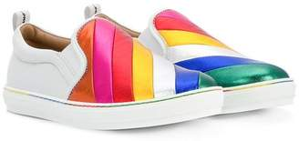 Salvatore Ferragamo Kids slip-on sneakers