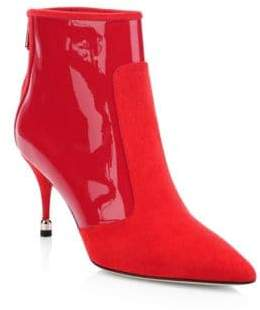 Paul Andrew Citra Suede& Patent Pointed Boots