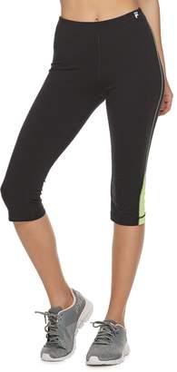 d45eda7f92a94 Fila Sport Women's SPORT Printed Inset Midrise Capri Leggings