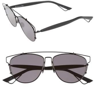 Women's Dior Technologic 57Mm Brow Bar Sunglasses - Black