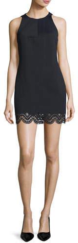 KENDALL + KYLIE Sleeveless Laser-Cut Mini Cocktail Dress, Black