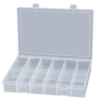 clear Durham Compartment Box, Polypropylene Resin, Clear, LP12