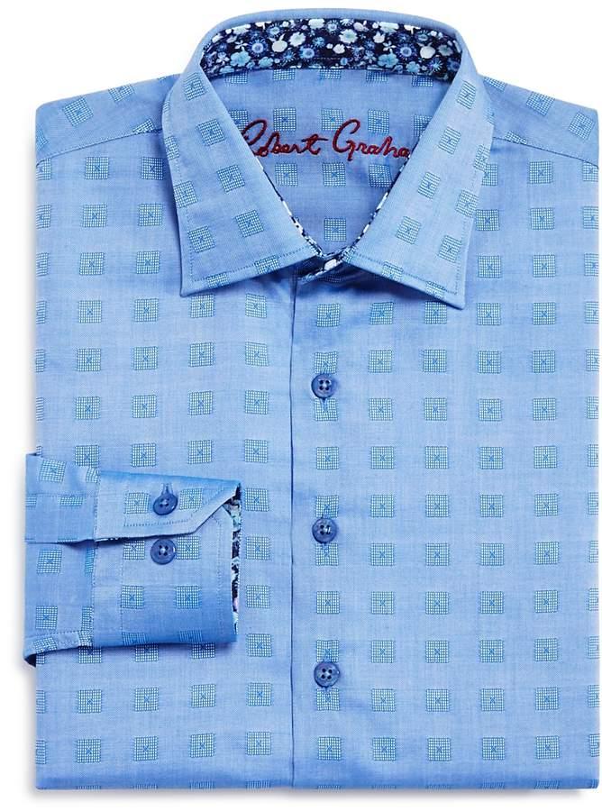 Boys' Check-Print Dress Shirt - Big Kid