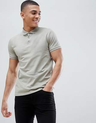 Asos Design DESIGN polo in jersey in grey