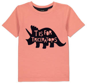 George Orange T is for Triceratops T-Shirt