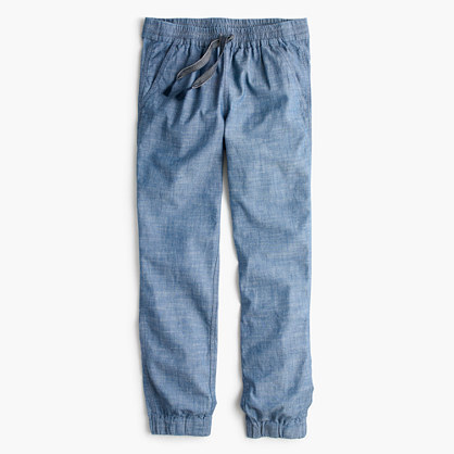 J.Crew Petiteseaside pant in chambray