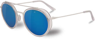 Vuarnet Edge Panthos Polarized Sunglasses, Red Amber/Matte Black