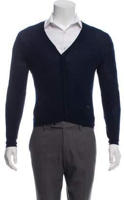 Burberry Merino Wool V-neck Cardigan