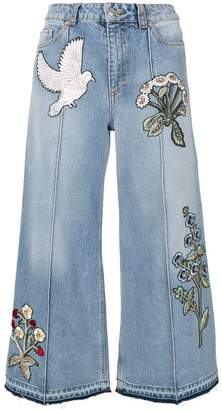 Alexander McQueen embroidered jeans
