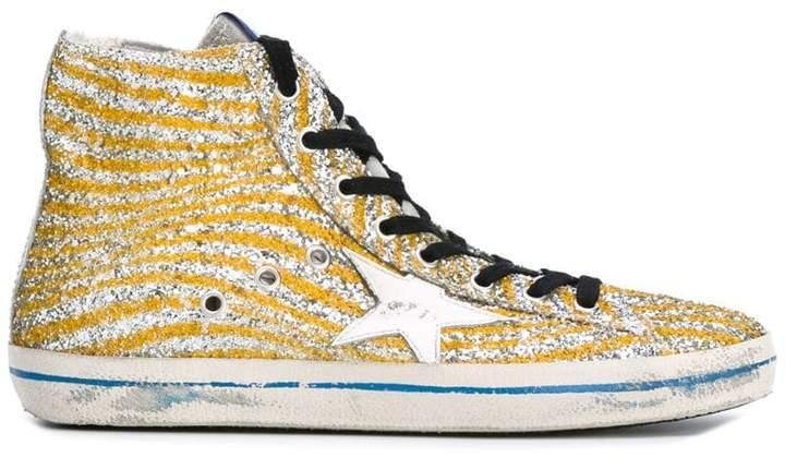 Golden Goose Deluxe Brand Francy hi-top glitter sneakers