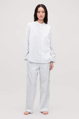 Cos COLLARLESS STRIPED PYJAMA SHIRT