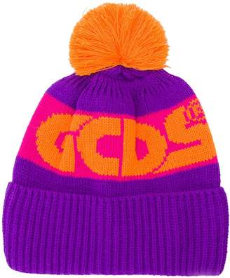GCDS colour block logo hat