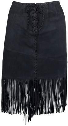 Polo Ralph Lauren Black Suede Skirts