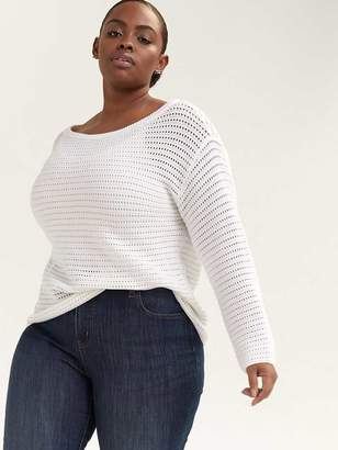 Long Sleeve Cotton Sweater - d/C JEANS