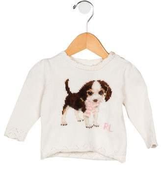 Ralph Lauren Girls' Intarsia Crew Neck Sweater