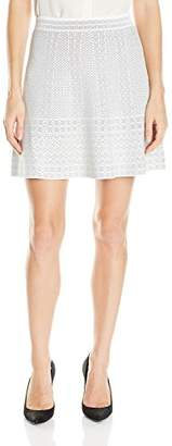BCBGMAXAZRIA Women's Queeny Lace Relief Sweater Skirt