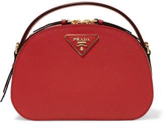 Prada Brique Leather Shoulder Bag - Red f678dbab0171d