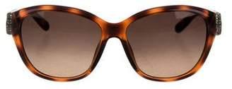 Chloé Embellished Tortoiseshell Sunglasses w/ Tags