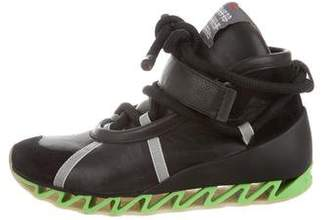Bernhard Willhelm For Camper Leather High top sneakers.