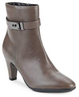Buckle Detailed Leather Boots $495 thestylecure.com
